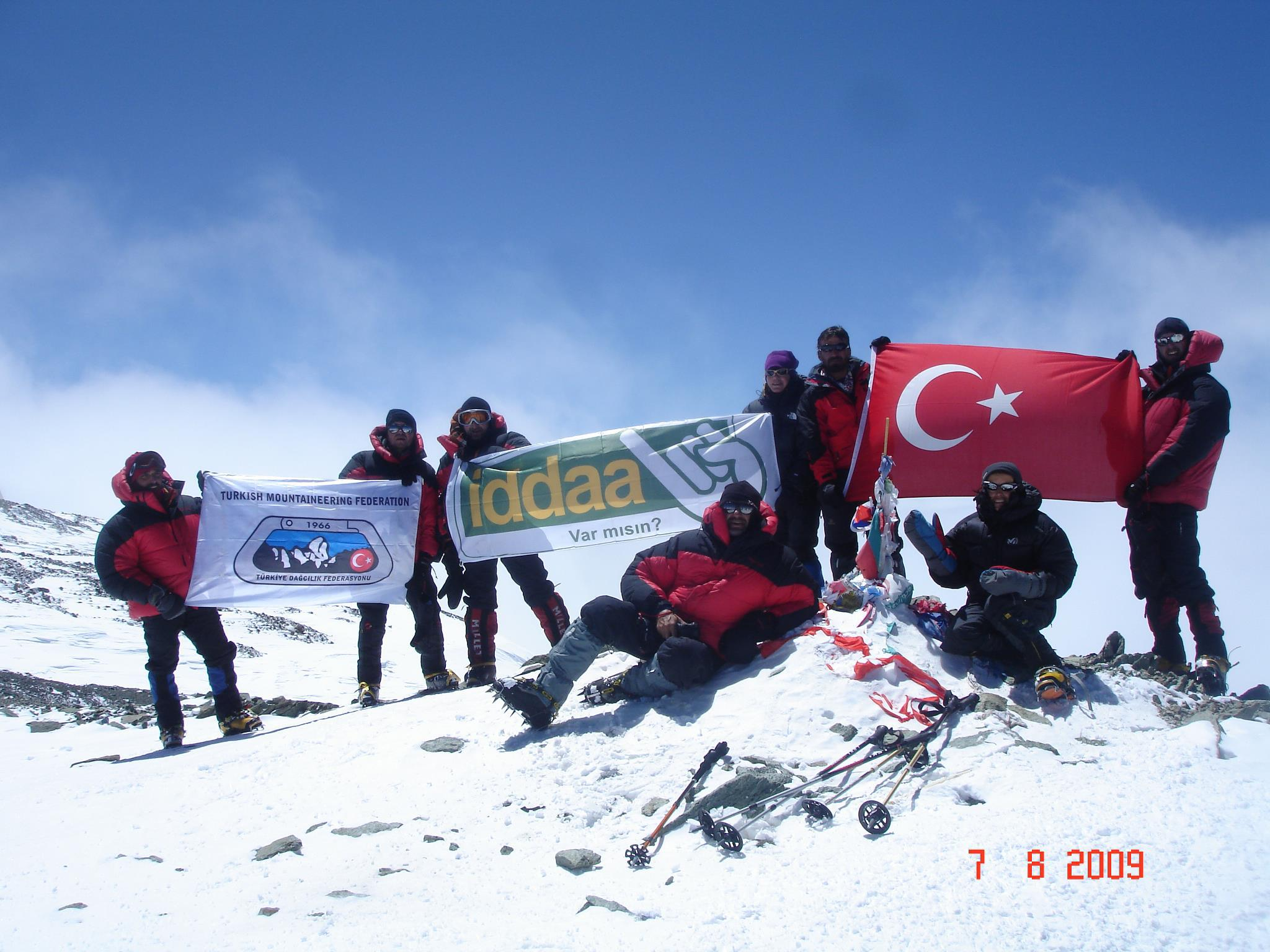 Türkiye Dağcılık Federasyonu 2009 Yüksek İrtifa Tırmanış Milli Takımı - Peak Lenin 7105m